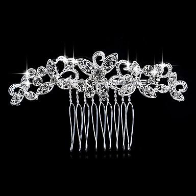 levne Dámské šperky-Dámské Elegantní Křišťál Umělé diamanty Stříbrná Hřebeny na vlasy Svatební Párty