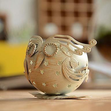 [$8 79] Iron Owl Retro Candlestick Morocco Classic Wedding Candlestick  Candle Holder
