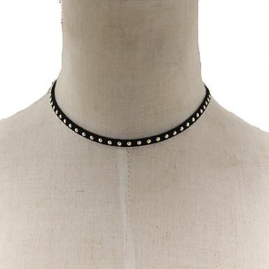 Dam Chokerhalsband Uttalande Halsband Mode Legering Brun Halsband Smycken Till Party Speciellt Tillfälle Födelsedag Grattis Gåva Valentine