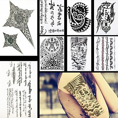 639 8szt Modne Pióra Pismo Kwiat Na Ramię Diy Wodoodporna Tymczasowy Tatuaż Dla Kobiet Mężczyzn Tatuaże Naklejki Tatuaż Projektowania
