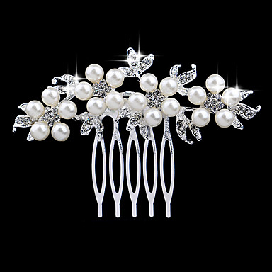 levne Dámské šperky-Dámské Elegantní & luxusní Křišťál Napodobenina perel Umělé diamanty Hřebeny na vlasy Svatební Párty