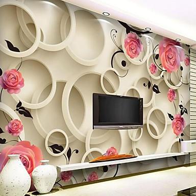 3385d40715b moderní 3d šplhat kůže efekt velký nástěnný tapety kulaté květiny umění  stěna dekor pro tv pohovka pozadí zdi 4959541 2019 –  29.39