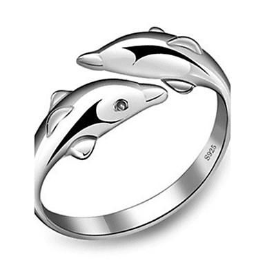 billige Motering-Dame Band Ring vikle ring tommelfingerring Sølv Sølv damer Uvanlig Unikt design Bryllup Fest Smykker Kjærlighed Billig