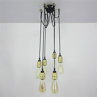 CXYlight 6-Light Hängande lampor Glödande Målad Finishes Metall Ministil 110-120V / 220-240V Glödlampa inte inkluderad / E26 / E27