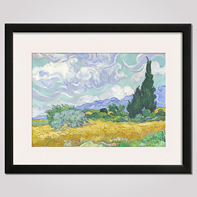 Framed Art Print Framed Canvas Famous Landscape Still Life Leisure Wall Art,  PVC Material With Frame Home Decoration Frame Art Living 4977788 2018 U2013  $36.99