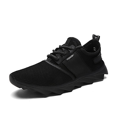 011eb38418a Men s Fashion Sneakers Casual Yeezy Shoes Comfort Tulle Athletic Shoes Flat  Heel Lace-up Black   Gray 5770315 2019 –  34.99