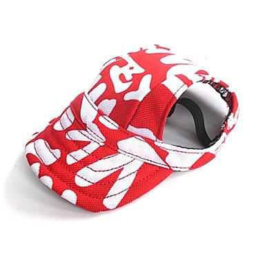 Katt Hund Huvtröjor Snusnäsdukar och mössor Hundkläder Svart Röd Kostym Nylon Färgblock Semester Ledigt / vardag S M