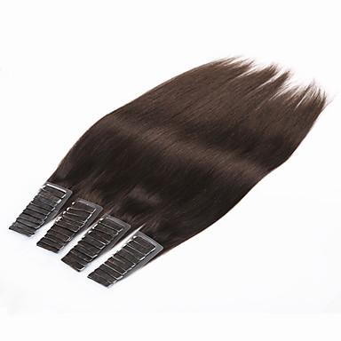 povoljno Ljepota i kosa-PANSY S ljepljivom trakom Proširenja ljudske kose Ravan kroj Ljudska kosa Brazilska kosa # 6