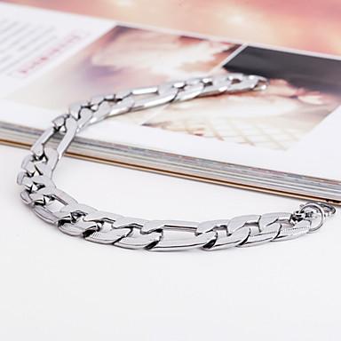 levne Pánské šperky-Pánské ID náramek Jedinečný design Módní Nerez Náramek šperky Stříbrná Pro Vánoční dárky Párty