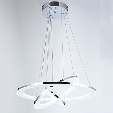 Hängande lampor Glödande Krom Metall Akryl Kristall, LED 110-120V / 220-240V Varmt vit / Kall vit LED-ljuskälla ingår / Integrerad LED / FCC