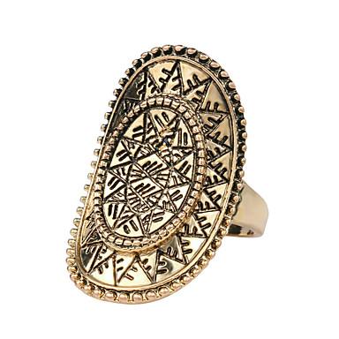 billige Motering-Dame Statement Ring Gylden Legering Statement Personalisert Mote Fest Daglig Smykker filigran magi