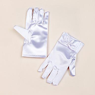 preiswerte Handschuhe für die Party-Satin Handgelenk-Länge Handschuh Blumenmädchen Handschuhe Mit Schleife