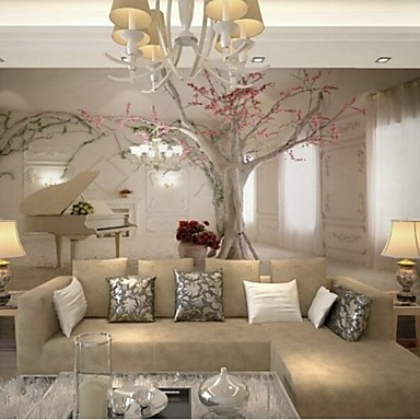 Captivating Living Room Modern 3D Shinny Leather Effect Large Mural Wallpaper Piano And  Tree Art Wall Decor 4959536 2017 U2013 $16.79 Images