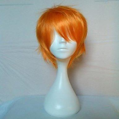 billige Kostymeparykk-Syntetiske parykker Rett Stil Lokkløs Parykk Blond Syntetisk hår Dame Parykk