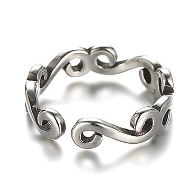 levne Dámské šperky-Dámské Band Ring manžeta Ring obalovací kroužek Stříbrná Stříbro Stříbrná dámy Neobvyklé Jedinečný design Svatební Denní Šperky