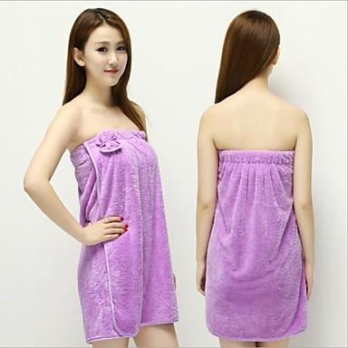 1st nya kvinnor dam korall sammet mjuk bh båge bad badrock handduk kjol klänning