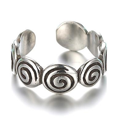 Bandring Justerbar ring tumring Silver Sterlingsilver Silver damer Vintage Dagligen Casual Smycken Hantverkare