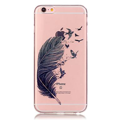 povoljno iPhone maske-Θήκη Za Apple iPhone 6s Plus / iPhone 6s / iPhone 6 Plus Prozirno Stražnja maska Perje Mekano TPU