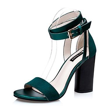 cec7ebb71d Magassarkú-Vastag-Női cipő-Szandál-Alkalmi-Bársony-Fekete / Zöld / Piros  4994845 2019 – $24.99
