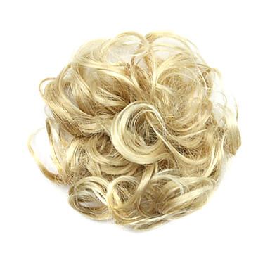 levne Culíky-Syntetické paruky Drdol Kudrny Klasický Klasické Kudrny Vrstvený střih Paruka Krátký Blonde Umělé vlasy Dámské Updo