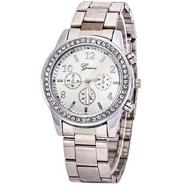 levne Dámské-Dámské Luxusní hodinky Náramkové hodinky Diamond Watch Křemenný Nerez Stříbro / Zlatá Hodinky na běžné nošení imitace Diamond Analogové dámy Přívěšky Módní - Stříbrná Zlatá Růžové zlato
