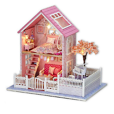 Chi Fun House Diy Cabin Pink Cherry Hand Embled Model Creative Birthday Gift To Send S Friends 5036170 2019 31 99