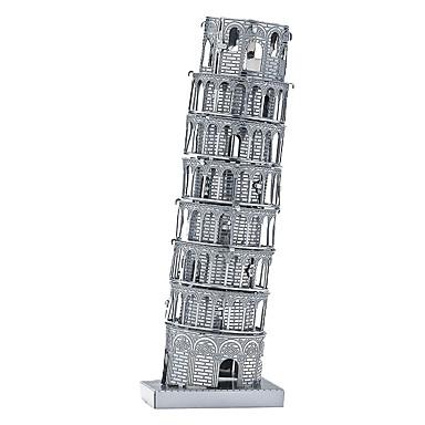 3D-pussel Träpussel Metallpussel Lutande tornet i Pisa Metall Pojkar Flickor Leksaker Present