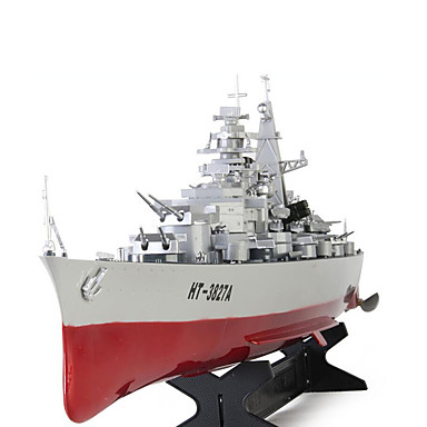 [€45 11] RC Boat HT 3827A Warship / Remote Control Boat ABS 2 pcs Channels  20 km/h KM/H RTF Large Size