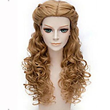 Syntetiska peruker Vågigt Vågigt Peruk Lång Brun Syntetiskt hår Dam Brun
