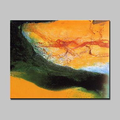 Hang målad oljemålning HANDMÅLAD - Abstrakt fantasi Moderna Med Ram