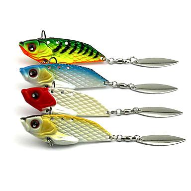 4 pcs Fiskbete Hårt bete Vibration Metallbete Fastsjunkande Bass Forell Gädda Sjöfiske Kastfiske Drag-fiske Metall / Generellt fiske / Trolling & Båt Fiske