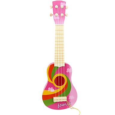 preiswerte Spielzeuginstrumente-Kunststoff rosa Simulation Kind Gitarre für Kinder ab 8 Musikinstrumente Spielzeug