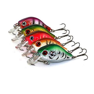 5 pcs Fiskbete Hårt bete Vibration Sjunker Bass Forell Gädda Sjöfiske Kastfiske Drag-fiske Plast / Generellt fiske / Trolling & Båt Fiske