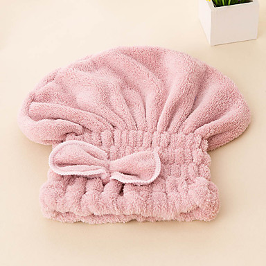 cheap Towels & Robes-Fresh Style Hair Wraps,Solid Superior Quality 100% Polyester Towel