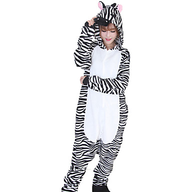 67f051c6ba27 Adults  Kigurumi Pajamas Zebra Onesie Pajamas Flannel Toison Black   White  Cosplay For Men and Women Animal Sleepwear Cartoon Festival   Holiday  Costumes ...