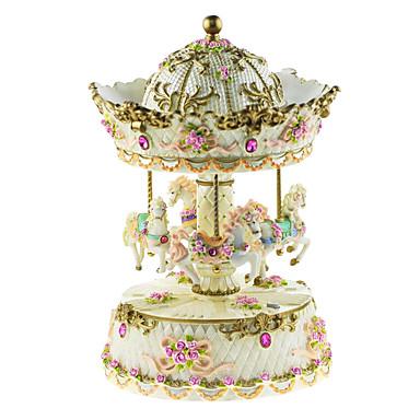 keramik rosa / vit / gul kreativa romantisk speldosa för gåva