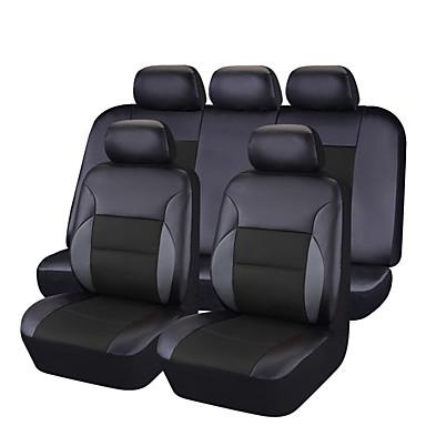 levne Doplňky do interiéru-CARPASS Potahy na autosedačky Kryty sedadel Černá / černá + černá / Světlá růžová PVC Business Pro Evrensel