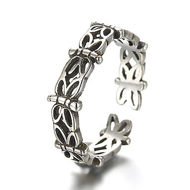 billige Båndringe-Unisex Band Ring Justerbar ring tommelfingerring Sølv Sølv damer Uvanlig Unikt design Daglig Avslappet Smykker