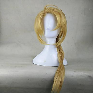 Cosplay Peruker Syntetiska peruker Kinky Curly Sexigt Lockigt Peruk Blond Blond Syntetiskt hår Blond