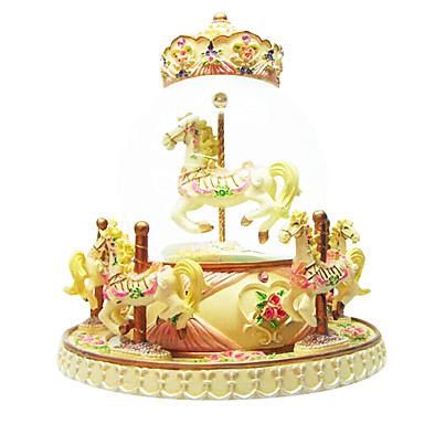 abs gul kreativa romantisk speldosa för gåva