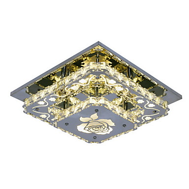 Ecolight™ Hängande lampor Glödande Krom Metall Kristall, LED 90-240V Gul LED-ljuskälla ingår / Integrerad LED