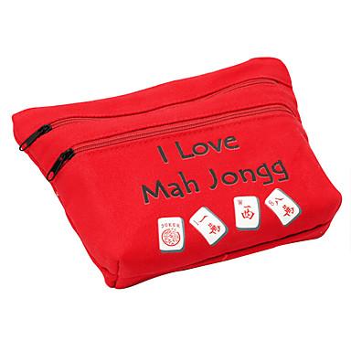 Royal St 20 mm miniatyr kristall mahjong mahjong med tygpåse för resor silver / svart tygpåse