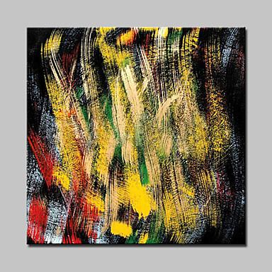 Hang målad oljemålning HANDMÅLAD - Abstrakt Moderna Med Ram