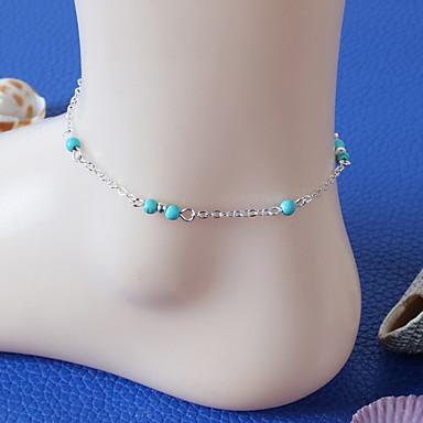 levne Dámské šperky-Dámské Tyrkysová Nákotník dámy Přizpůsobeno Vintage Módní Pryskyřice Tyrkys Nákotník Šperky Stříbrná Pro Párty Denní Ležérní
