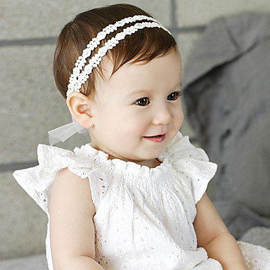 cheap Kids' Headpieces-Infant Boys' / Girls' Cotton Hair Accessories Beige One-Size / Headbands