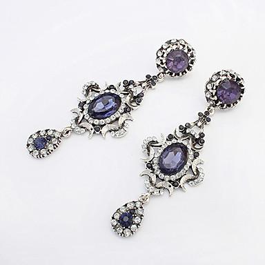 Dam Dropp Örhängen Vintage Europeisk Mode Bergkristall örhängen Smycken Blå Till Party Dagligen Casual Arbete