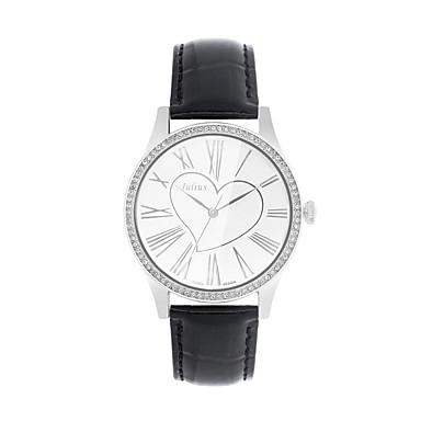 abad55df5e0 JULIUS Dámské Módní hodinky Maketa Diamant Hodiny imitace Diamond Křemenný  Kůže Kapela Černá Bílá Červená Hnědá Růžová 5011527 2019 –  38.99