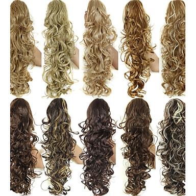 preiswerte Haarteil-Pferdeschwanz Synthetische Haare Haarstück Haar-Verlängerung Locken