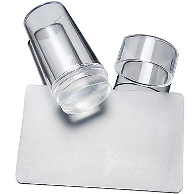 2 pcs Nail DIY Tools Stämpelplatta Mall Moderiktig design nagel konst manikyr Pedikyr Stilig / Rund / Fyrkantsformad / stämpling Plate