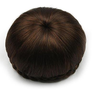 kinky lockigt brunt människohår spetsar peruker chignons 2009